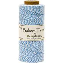 Hemptique Cotton Baker's Twine Spool 2 Ply, 410-Feet, Light Blue