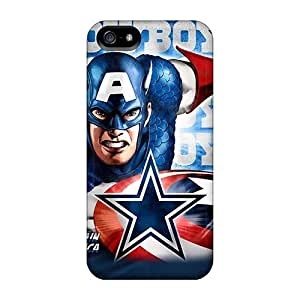 High Grade GAwilliam Flexible Hard Case For Iphone 5/5s - Dallas Cowboys