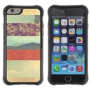 """Pulsar iFace Series Tpu silicona Carcasa Funda Case para Apple (4.7 inches!!!) iPhone 6 , Planetas Montañas Artísticas"""""""