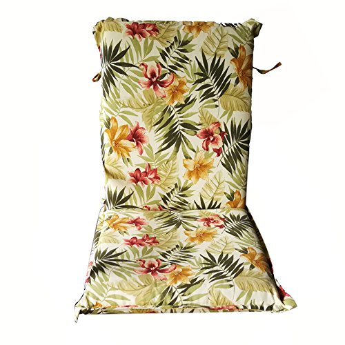 Nattork Floral Patio Cushion For High Back Chairs Not Fade,Water-Resistant & Uv-Resistant Seat & Back Cushion Ideal For Outdoor Patio Wicker Furniture,Dining Room Chairs 22
