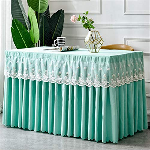 (Wedding Dessert Table Buffet Mesh Tablecloth Birthday Party Decoration Tablecloth Lace Table Skirt tiffany blue Customized size)
