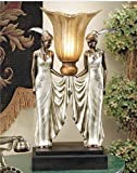 20''H Twin Maidens Art Deco Lamp