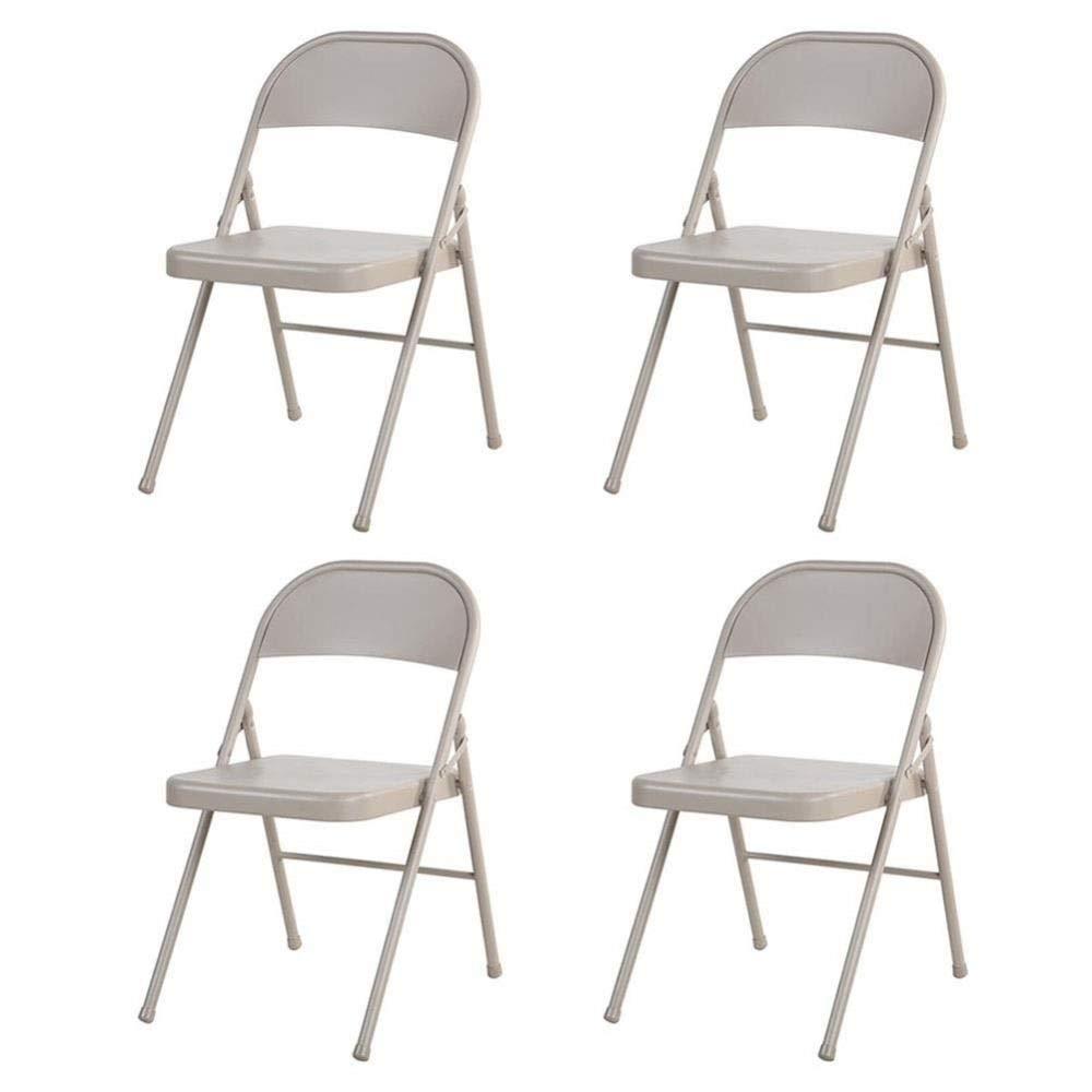 Vuelta de 10 dias 4 Pieces FENGFAN-Silla plegable plegable plegable Todas Las sillas de Oficina de Metal Computadora Reunión de recepción Sillas de Escritorio Silla del Personal (Color   4 Pieces)  diseños exclusivos