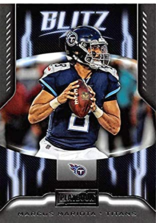 2018 Playbook BLITZ Football  19 Marcus Mariota Tennessee Titans Official  NFL Card Produced by Panini 45ba8bb5f