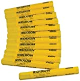 Dixon Lumber Crayon, Permanent, Yellow, 12-Count (49600) by Dixon Ticonderoga Office Product