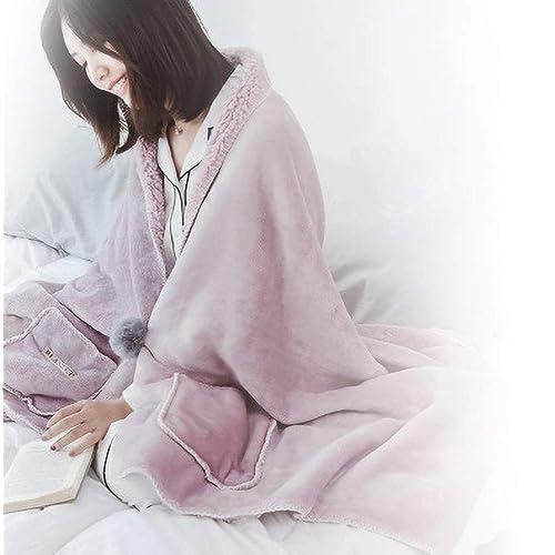 ひざ、肩、腰に!3WAYで使えるDINFOの着る毛布ポンチョ