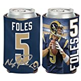 NFL Los Angeles Rams Can Cooler 12 oz. Nick Foles Limited Can Koozie