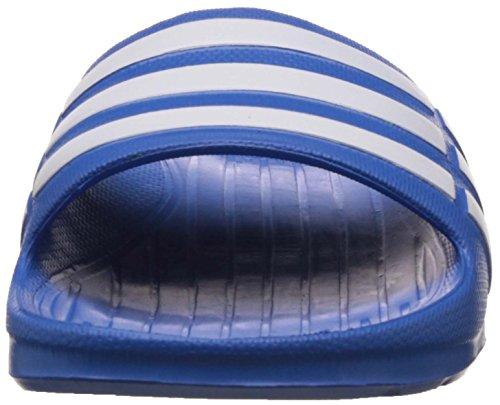 adidas Duramo Slide K - Chanclas, Niño, Azul / Blanco, 38