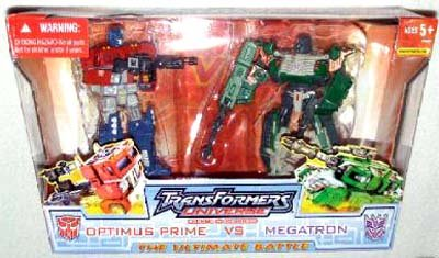 Transformers Optimus Vs. Megatron Universe Battle