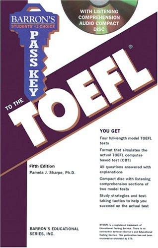 Pass Key to the TOEFL with Audio CD (BARRON'S PASS KEY TO THE TOEFL) by Brand: Barron's Educational Series