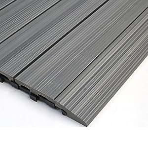 NewTechWood QD-SF-LG QuickDeck Composite Deck Tile Side