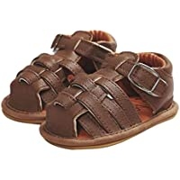 Hot Baby Sandals ! AMA(TM) Toddler Baby Girls Boys Sandals Summer Skidproof Shoes First Walkers (12~18 Month, Brown)