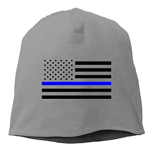 NDJHEH Gorras béisbol Thin Blue Line American Flag Beanie Hats Knit Skull Caps Winter Beanies For Men WomenAsh