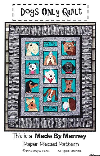 Made by Marney Paper Pieced Quilt Pattern - Dogs Only (42