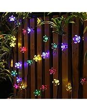 OxyLED Luces de cadena de hadas,120LED 12M Luces estrelladas regulables, luces de cadena decoración para jardín, patio, árbol, fiesta, Navidad, decoración interior y exterior, blanco cálido