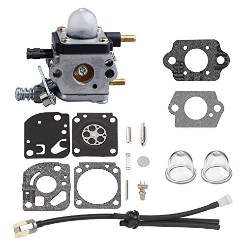 Harbot Carburetor with Gakset Repair Kit Fuel Line for Zama C1U-K82 Mantis Tiller 7222 7225 SV-5C/2 Engine A021001090