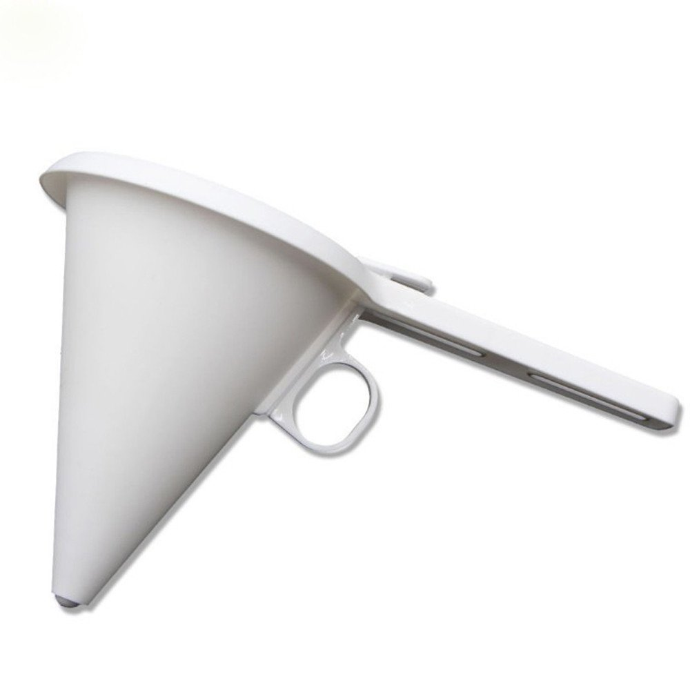 LNGRY Chocolate Funnel, Adjustable Chocolate Candy Cream Funnel Easy Operating Funnel for Baking Cake Decorating Tools Kitchen Accessories (White)