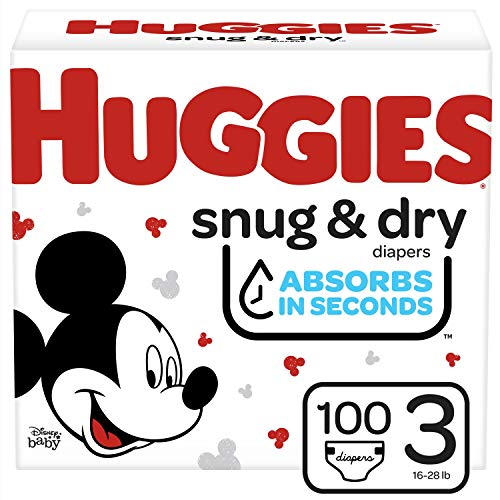 Huggies Snug & Dry Baby Diapers, Size 3, 100 Ct