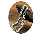 Epinki 925 Sterling Silver Women Men Necklace Twist Chain 60CM-A124