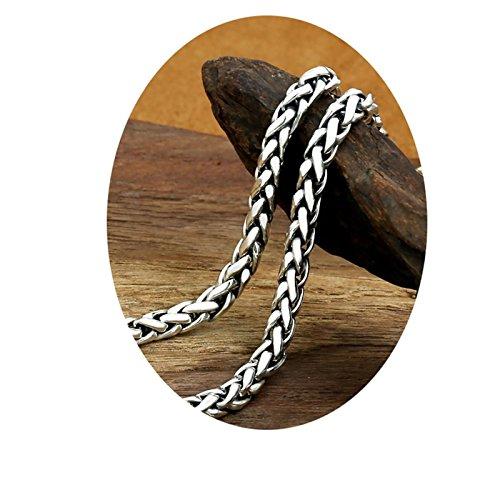 Epinki 925 Sterling Silver Women Men Necklace Twist Chain 60CM-A124 by Epinki