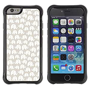 LASTONE PHONE CASE / Suave Silicona Caso Carcasa de Caucho Funda para Apple Iphone 6 / White Pattern Beige Minimalist