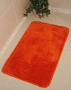 Bolero Tangerine Orange Bath And Pedestal Bathroom Mats 1059 - Make Your Own Set