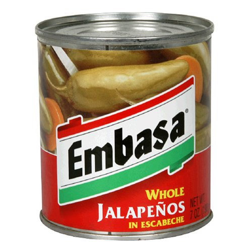 Embasa Whole Jalapenos in Escabeche, 7-Ounce Cans (Pack of 12)