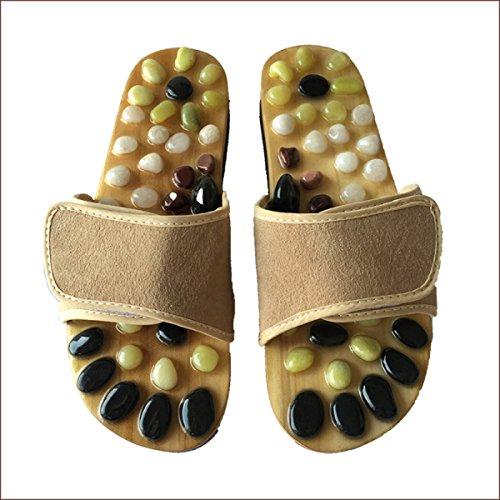 Pantoufles Chaussures Massage Beige Pieds Massage Pied Pied Couple Natural 41 Beige De Suede Santé 41 Acupuncture Pantoufles Pebbles qcPfWtcnwA