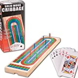 WOOD CRIBBAGE WITH CARDS