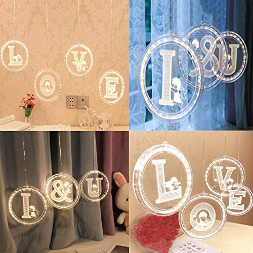 Lemoning❤USB Letter Lights LED Light Up White Plastic Letters Hanging Type L~Z ()