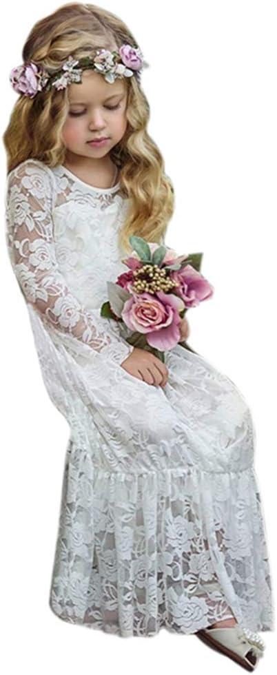 YYQX-4X Vestidos de niña de Las Flores, Falda para niñas Vestido ...