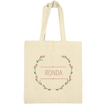 8e5c064fb668 Amazon.com: Floral Wreath Ronda Bag: Canvas Bargain Tote Bag ...