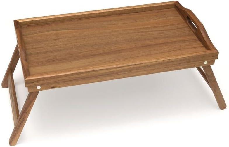 "Lipper International Acacia Bed Tray with Folding Legs, 19.75"" x 12"" x 9.5"""