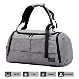 Sports Gym Bag 3 in 1 Shoulder Duffel Backpack Overnight Weekender Tote with Shoes Compartment Luggage Carry on Bag for Workout, Travel, Camping, Men, Women …