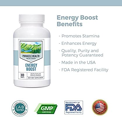 Amazon Com Natural Caffeine Energy Boost Supplement Best Value 300 Count Boost Stamina And Energy 210mg By Pinnacle Health Health Personal Care