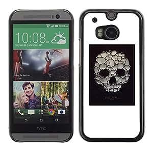 Shell-Star Arte & diseño plástico duro Fundas Cover Cubre Hard Case Cover para HTC One M8 ( Skull Soap Bubble Death Poster White )