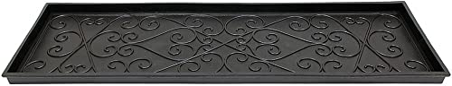 Achla Designs Scrollwork Rubber Boot Tray, Large