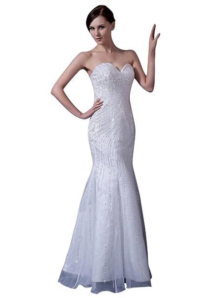 George Bride sirena del tesoro perlas bodenlangen vestido de novia Vestidos de novia Vestidos de Boda