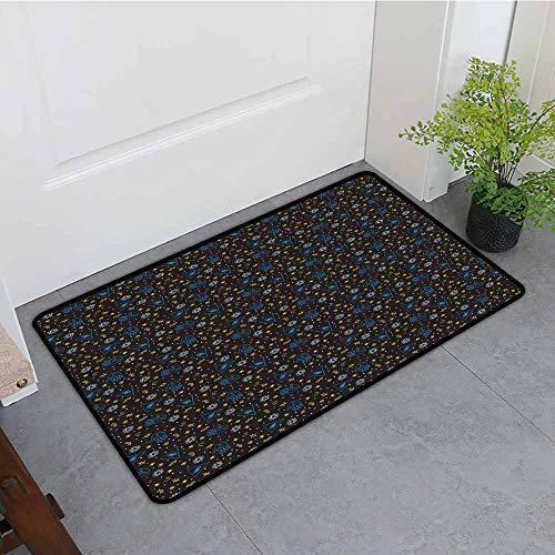 Beihai1Sun Bath mat,Astrology Alchemy Mystic Eye Triangles Palms Moons Stars Astrology Symbols Lines,Customize Door mats for Home Mat,31