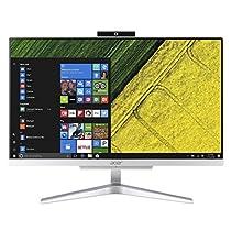 Acer Aspire C22-865 All in One con Processore Intel Core i3-8130U, RAM da 4 GB, 256 GB SSD, Scheda Grafica Intel HD, Display 21.5 FHD, Wireless Lan, Silver