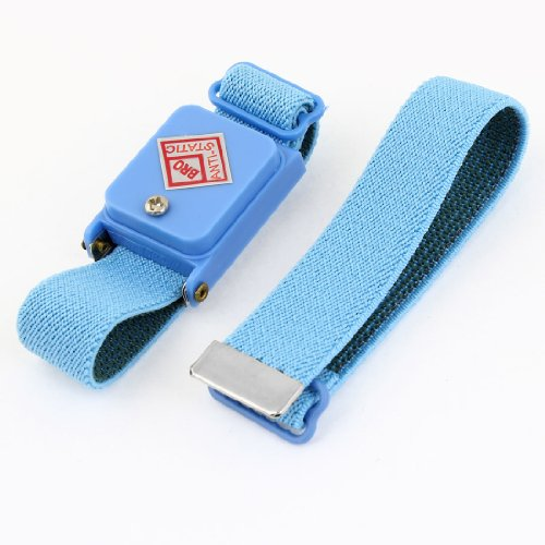 uxcell Blue Cordless Stretchy Wristband Anti-static Wireless Wrist ()