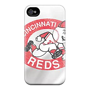 Durable Cincinnati Reds Back Case/cover For Iphone 4/4s
