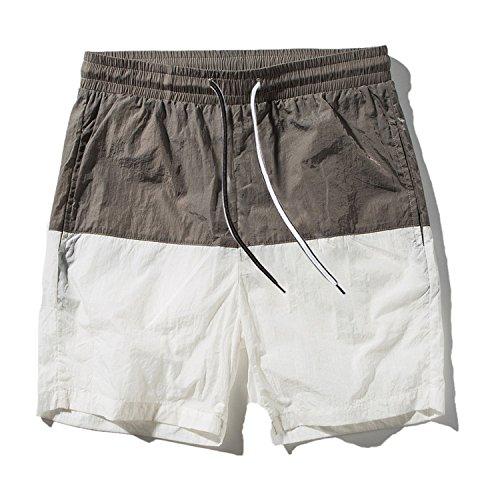 Mistere Shorts Men's Loose Pants Mixed Colors Couples Beach Pants,Medium,White by Mistere Shorts