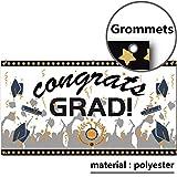 "Graduation Party Banner -Class of 2018 Congrats Grad Decorations & Supplies,Congratulations Grad Parties Decor - Graduate Cap Sign Design for Seniors High School,College or Prom–Extra Large 71"" x 40"""