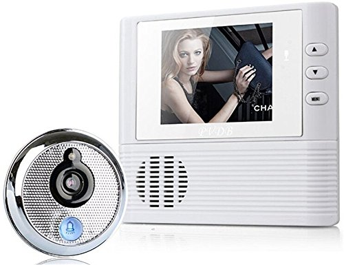 2.8 Inch Screen Wireless Electronic Video Door Bell with Camera Monitor Auto 20 Videos Peep hole Visual Cat's Eye Home Security (videos - Security Eye Cat
