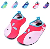 Giotto Kids Swim Water Shoes Quick Dry Non-Slip for Boys & Girls, Pink, 22-23