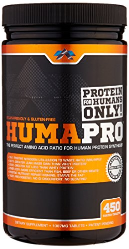 ALR Industries Humapro Tabs,  Protein Matrix Formulated for Humans, Waste Less. Gain Lean Muscle, 1087mg, 450 Tabs (Best Muscle Growth Pills)