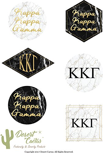 Kappa Kappa Gamma Sorority Marble Sticker Decal Laptop Water Bottle Car (Full (Stained Glass Name Tags)
