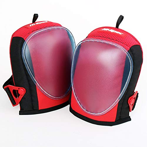 Hi-Spec Heavy Duty Professional Knee Pads with Layered Gel, Laying Carpet & Flooring. Universal Size (2 Piece) by Hi-Spec