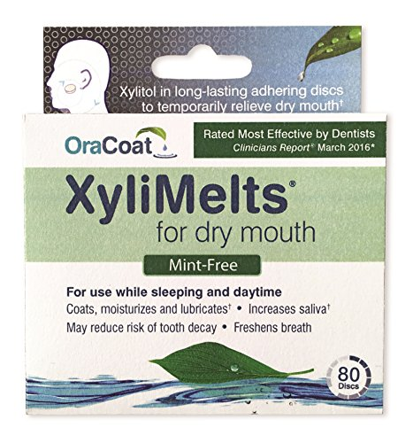 Dry Gum (XyliMelts for Dry Mouth, Mint-Free, 80-Count Box)